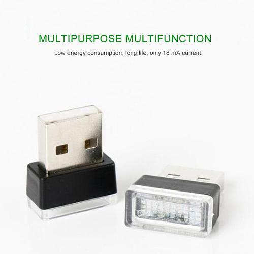 7 Colors ,LED Car Light Mini USB Light LED Modeling Lamp Car Ambient Light Neon Decorative Lamp Car Lights Car Accessories