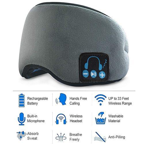 Creative Wireless Earphone Headphones Sleep Mask Bluetooth Earbuds Headset Travel Handsfree Call Music Sleep Eye Mask Ear Phones