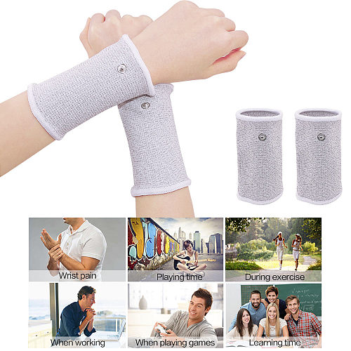 Therapy Bracers Conductive Wrist Electrode Massage Wristband for Digital Therapy Machine Ems TENS Unit Body Massager Health Care