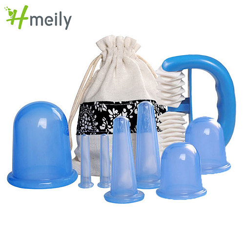 8Pcs/Set Vacuum Anti-Cellulite Suction Suction Cupping Healthy Care Massager Therapy Manual roller to relax the body