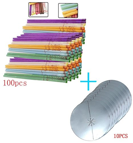 14-20-50- 100 pieces of aromatherapy ear candle quiet bergamot  horn with plug ear maintenance Matching tray