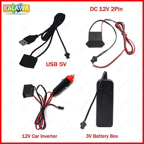 1to5 1to10 Flexible Neon Light EL Wire Driver Inverter PC USB Car Ciggrette Plug Adapter Controller Car Led Strip Light