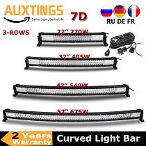 3-Row 22  32  42  52  Curved LED Light Bar Offroad Led Bar Combo Beam Led Work Light Bar 12v 24v For 4x4 4WD SUV ATV Cars