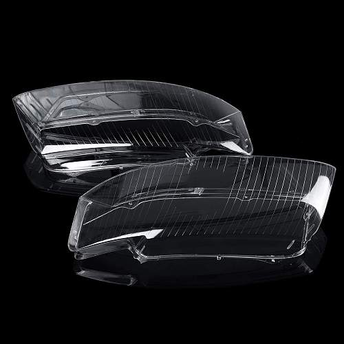 A4 B6 2x Headlight Lens Cover Car Front Headlight Headlamp Lens Cover Shell For Audi A4 B6 2002 2003 2004 2005 8E0941030AD