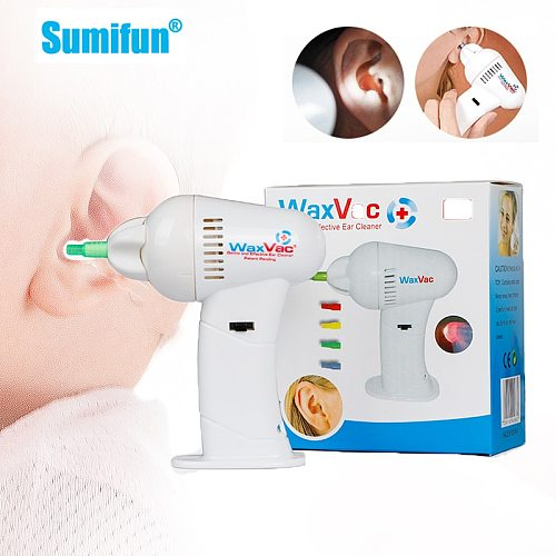 1pcs Portable Safty Electric Ear Cleaner Vacuum Ear Wax Remover Soft Spiral Head Ear Spoon Tools with LED Light Health Care Kits