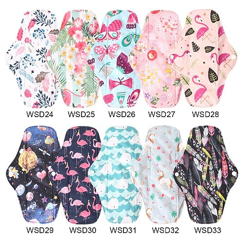 Washable Sanitary Pads Bamboo Charcoal Cloth Pads Size M with 2pcs 4 Layers Bmaboo Panties+ 1 Bag Dropshipping