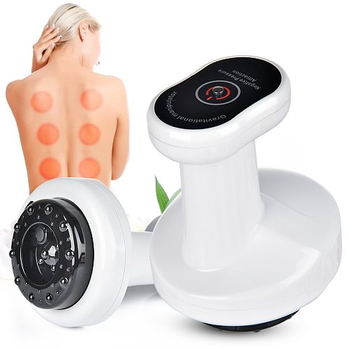Electric Heating Cupping Suction Cans Vacuum Guasha Massager Anti Cellulite Back Legs Fat Burning Slimming Physiotherapy Cupping