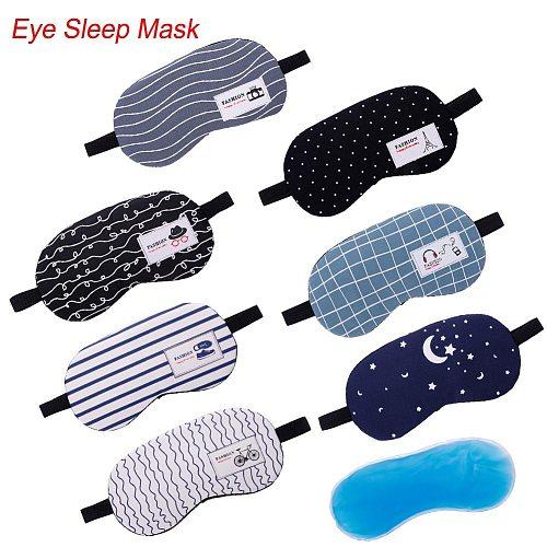 1pc Sleeping Mask Eyepatch Soft Eye Sleep Mask Fashion Striped Moon Style Creative Travel Relaxing Sleeping Aid Blindfold