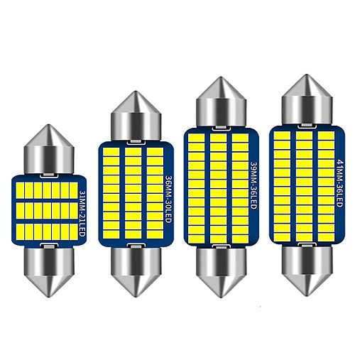 10PC C5W LED Canbus Festoon 31mm 36mm 39mm 41mm canbus Interior Reading Light License Plate Lamp White