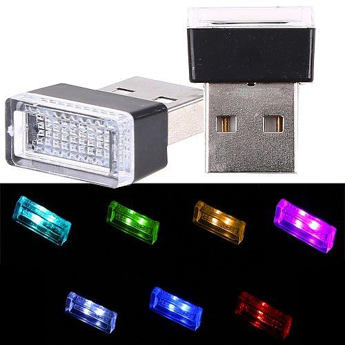 USB LED Lamp Car Indicator Decorative Atmosphere light Auto Interior Ambient Lights