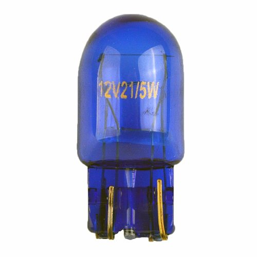 flytop (2 Pieces/Lot) 580 7443 W21/5W XENON Super White T20 Natural Blue Glass 12V 21/5W W3x16q Car Light Bulb Auto Lamp