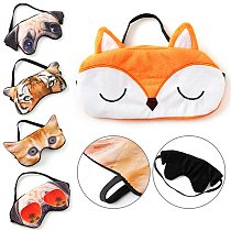 1Pcs Cute 3D Sleeping Eye Mask Eyeshade Cover Shade Eye Patch Soft Portable Travel Animal Blindfold