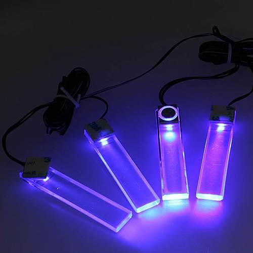 4Pcs Atmosphere Lamp Decoration Car LED Floor Foot Light Ambient  Car Light Interior Auto Backlight              Auto Accessorie