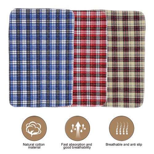 3Layers Urine Mat Reusable Adult Diaper Insert Liners Cloth Baby Nappy Diaper Pad Washable Thicken Elder Incontinence Urine Mat