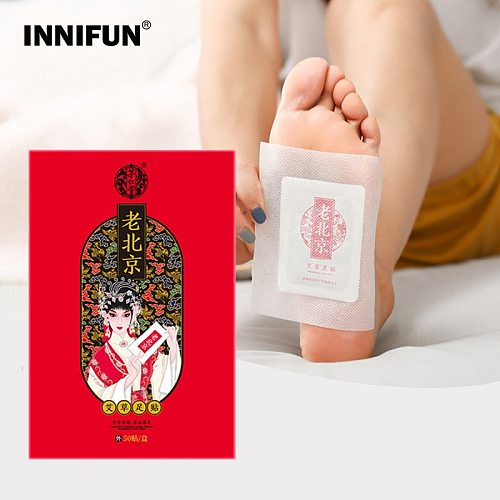 50pcs Detox Foot Patches Wormwood Health Care Foot Patch Pads Body Nourishing Feet Care Old Beijing Improve Sleep Slimming