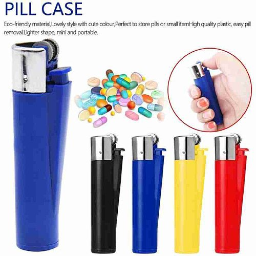 Mini Pill Organizer Case Bottle Cache Holder Container Keychain Medicine Box Waterproof Pill Box Case Health Care Tools NEW