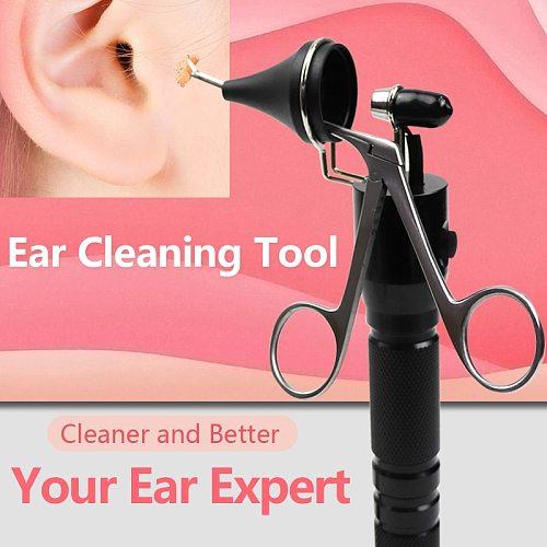Ear Pick Endoscope Earwax Remover Hartman Micro Alligator Crocodile Forceps Earpick Nose Operational Cleaner Clip Tweezer