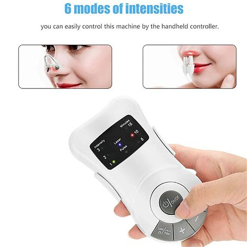 Rhinitis Recovery Anti Snoring  Instrument Physiotherapy Nose Massager Infrared Intelligent Anti Snoring Device