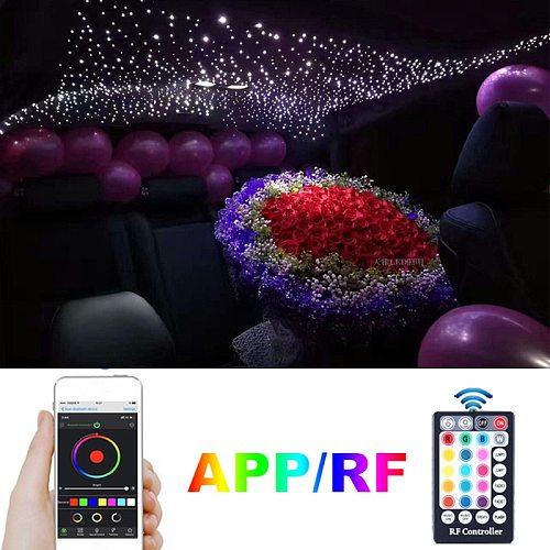 Bluetooth Smartphone APP Control Fiber Optic Light Music Control Starry Ceiling Lighting Twinkle Effect  Car Roof LED  Star Ligh