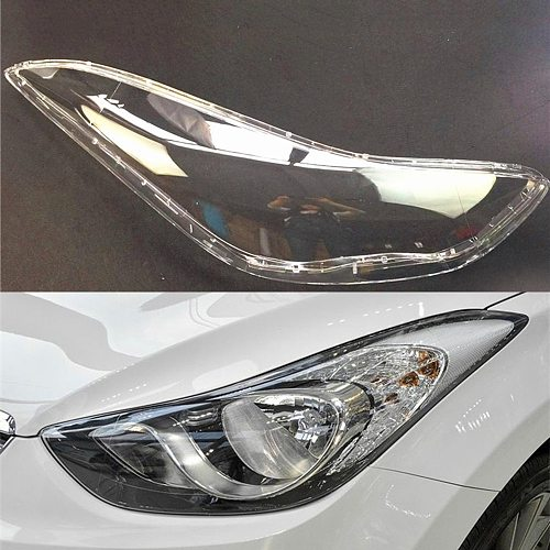 Car Headlight Lens For Hyundai Elantra 2012~2016 Headlamp Cover Replacement Auto Shell