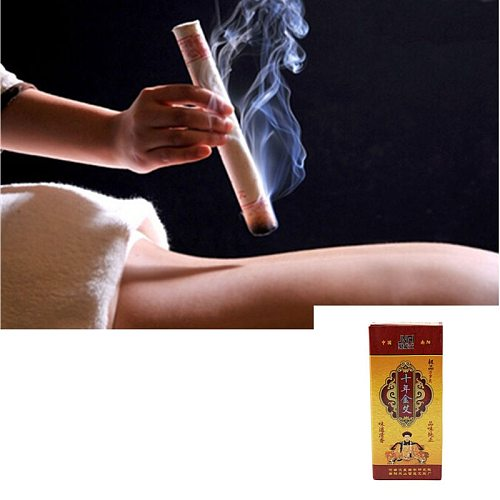 Ten Years Old Moxa Roll Chinese Pure Mox Roller Stick Rolls Moxibustion Mugwort Moxa Artemisia Acupuncture Massage Therapy