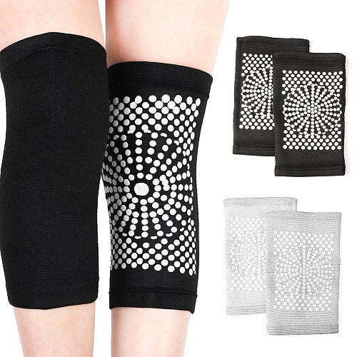 1 Pair Self Heating Knee Pads Magnetic Therapy Kneepad Pain Relief Arthritis Brace Support Patella Knee Sleeves Pads