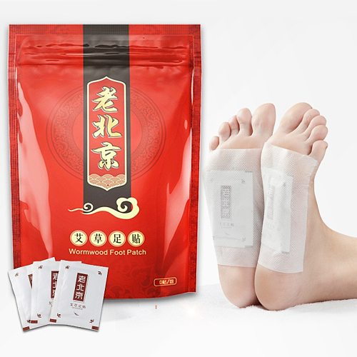 50pc Wormwood Health Foot Patch Pads Body Detox Nourishing Repair Feet Care Old Beijing High Quality Sleep Slimming