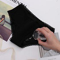 Women's Menstrual Underwear 4 Layers Waterproof Leakage Panties Female Lingerie Mid Waist Lace Underpants Physiological Period