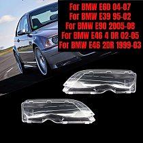 2pcs Headlight Clear Cover Front Headlamp Lens Shell Cover Lamp for BMW E46/E40/E90/E60/E39 2DR M3 325Ci 01-06 2 Door 1999-03