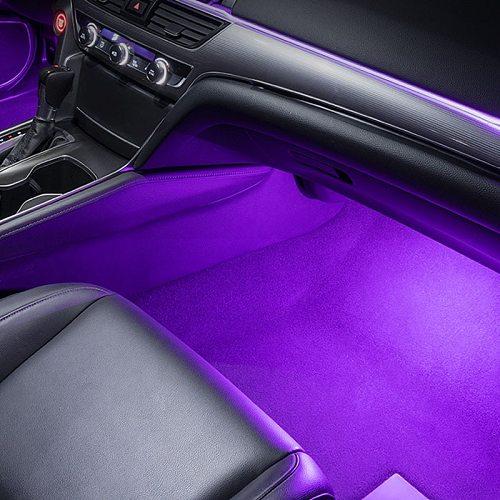 Car 9 LED 2 in 1 Floor Feet Atmosphere Lamp Decoration Lamp for Peugeot 206 207 208 301 307 308 407 2008 3008 4008