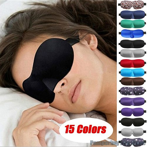 1pc 3D Natural Sleep Eye Cover Mask Shade Patch Portable Blindfold Travel Eyepatch