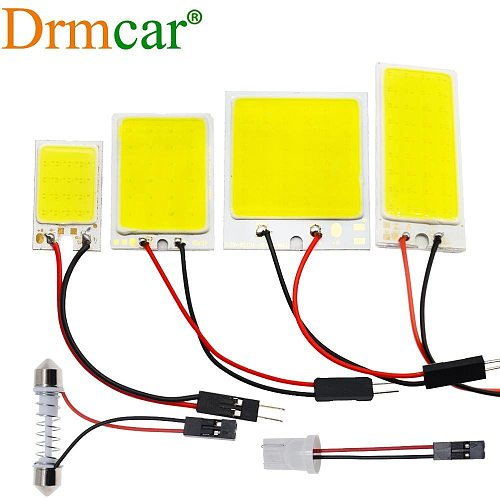 T10 W5W Auto Interior Reading Car Door Light 24SMD 36SMD 48SMD Dome Festoon Brake License Panel Led Trunk Lamp Clearance Light