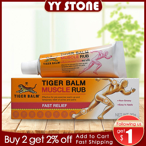 Tiger balm original red 30g/pcs muscle rub relieve Sprain for shoulder relief joints pain massage ointment health care plaster