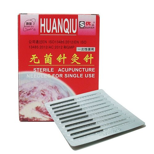 New Huanqiu Disposable Sterile Acupuncture Needle Acupuntura Needle For Single Use 100pcs Per Pack