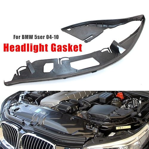 Car Auto Headlight Lens Gasket Rubber Seal Left Right Side for BMW E60 5 Series 525i 528i 530i 535i 545i 550i M5 2004-2010