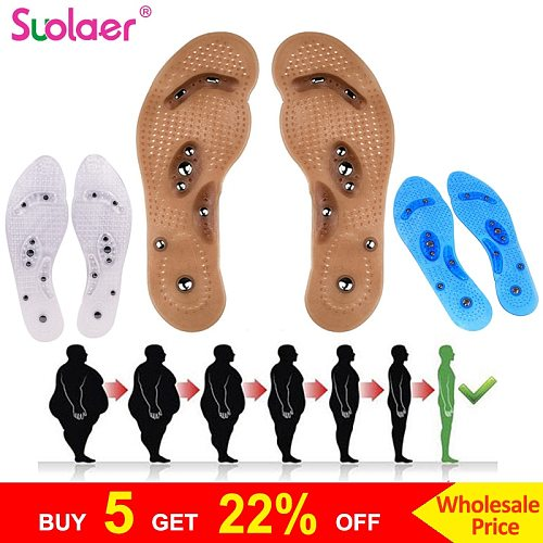 Body Detox Slimming Magnetic Foot Acupuncture Point Therapy Insole Cushion Massager Brioche Comfort Massage Shoe Pads Therapy