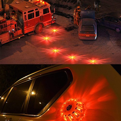 Magnetic Emergency Roadside Safety Light IP44 LED Road Flare LED Safety Flare Flashlight Warning Night Lights Beacon Lamps