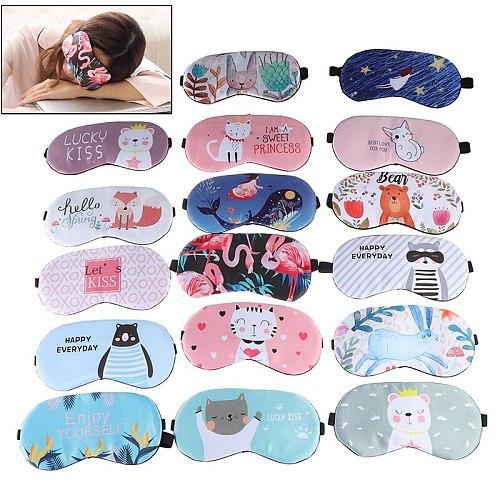 1pc Cartoon Sleeping Mask For Eye Travel Relax Sleeping Aid Eye Patch Shading Eye Mask Eyepatch Eye Cover Cotton Eyeshade