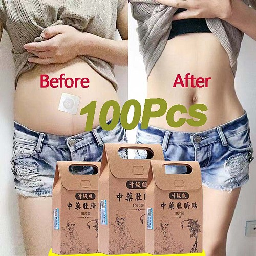 10/100pcs Slimming Weight Loss Burning Fat Sticker Products Chinese Medicina Tradicional Products  Slim Patch Remedio Para Emagr