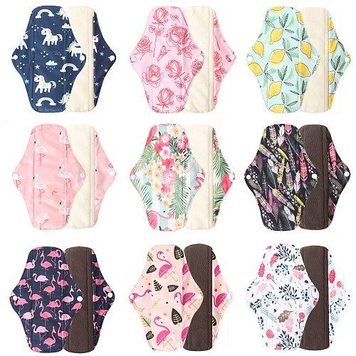 Ohbabyka Dropshipping Panty Liner Cloth Menstrual Pad Mama Sanitary Reusable Soft Washable Charcoal Period Napkins