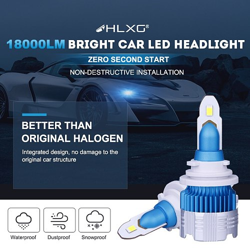 9005 LED HB3 HB4 9006 H11 H8 H9 H7 H4 LED Headlight 6000K 18000LM High Power Turbo Car Auto Headlamp Bulbs bombillas led coche