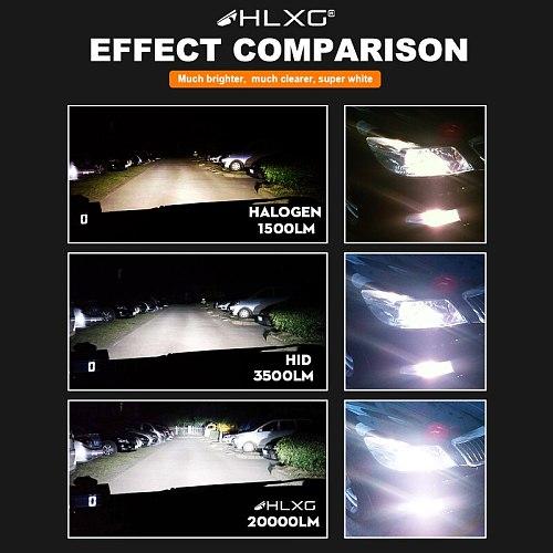 H7 led luces car light h4 HB3 HB4 headlight auto Bulb 20000LM 12V Super Powerful Turbo H8 H9 H11 H16JP 9005 9006 led lamps HLXG