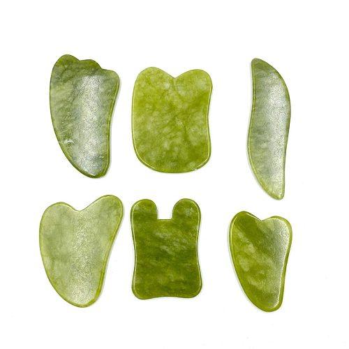 Natural Jade Guasha Scrapping Plate Gua Sha Massager for Face Wrinkle Removal Skin Lifting Thin Face Beauty Tool Facial Massage