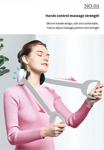 U Shape Electric Rechargeable Shiatsu Back Neck Shoulder Body Massager Infrared Heated Kneading Car/Home Massage