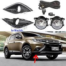 fog lights LED fog light for Mitsubishi Outlander 2016-2019 halogen headlight frame foglights covers Grille Harness switch kit