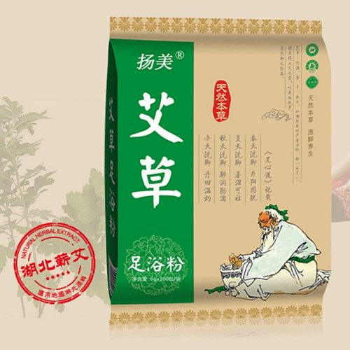 6g X 100 Bags Foot Bath Powder Wormwood Ginger Safflower Foot Bath Bag SPA Feet Relax Soothing Washing Health Care Relaxation