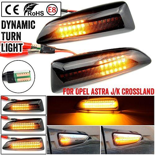 For Opel For Vauxhall Astra J K Crossland X Grandland Insignia B Zafira C LED Dynamic Turn Signal Light Side Fender Marker Lamp