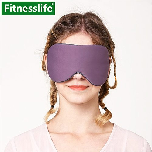 Sleep Mask for Sleeping Eye Cover Silk Cotton Cool Warm Double Sides Travel Rest Eye Patch Band Blindfold Milk Fiber Mesh Unisex
