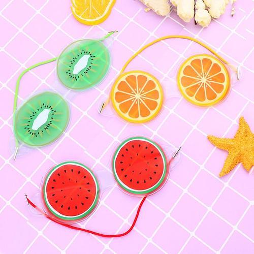 Fruit Ice Compress Eye Mask Relieve Fatigue Alleviate Swirl Remove Black Eye Bags Cosmetic Ice Compress Elastic Gel Eye Mask