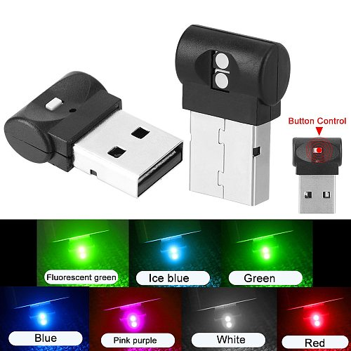 LEEPEE LED Atmosphere Light Plug And Play Colorful Decorative Lamp Emergency Lighting PC Auto Interior Mini USB Car Foot Light